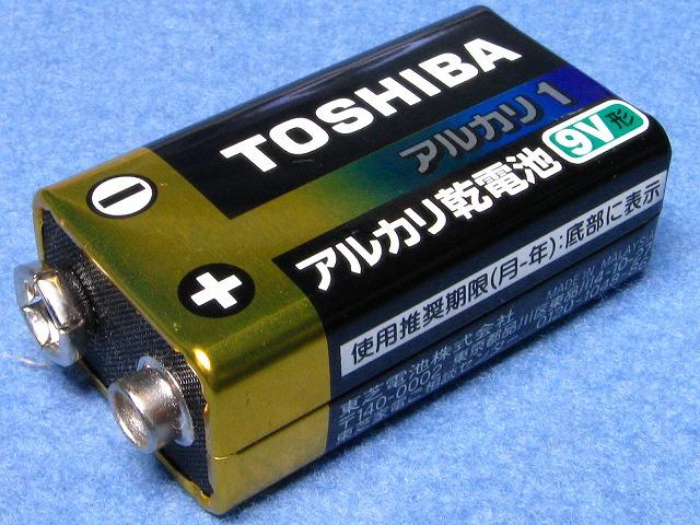 TOSHIBA アルカリ1 アルカリ乾電池 9V形 12-2002