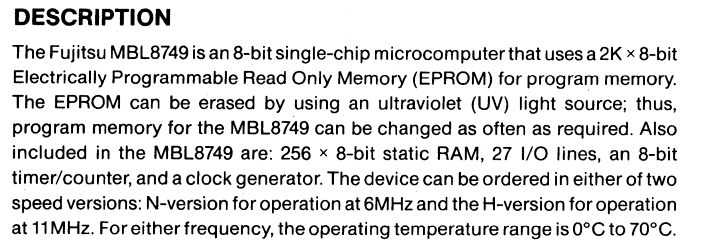 MBL8749 DataSheet